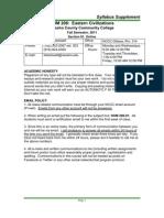 HUM 206 91 Syllabus Supplement