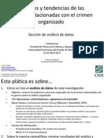 Patrones y tendencias de las muertes relacionadas con el crimen organizado. Sección de análisis de datos