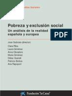24 Pobreza y Exclusion Social Un Analisis de La Realidad Esp