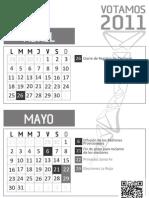 Calendario Electoral Grande - BN
