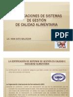Certificaciones de Sistemas de Gestion de Calidad