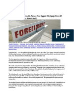 Major Mortgage Firms Accused of Fraud May 2011 - from CONFIDENTIAL FEDERAL AUDITS