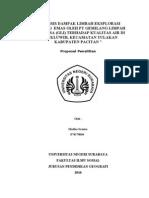 Analisis Dampak Eksplorasi Tambang Emas_proposal