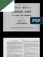 WWII Colorado War Casualties