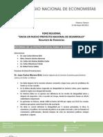 """13-05-11 Relatoría 5to Foro Regional """"Hacia un nuevo proyecto nacional de Desarrollo"""""""