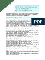 INSTRUCTIVO PARA COMPLETAR FORMULARIO DE SOLICITUD DEESTABLECIMIENTOS ESTATALES / ORGANIZACIONES SOCIALES PARALA TV DIGITAL TERRESTRE