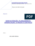 Adilson Rocha - Administração,  Planejamento, Organização, Direção e  Controle
