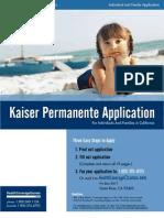 Kaiser Permanente Individual Family Application KPIF CA 2011 KPIF
