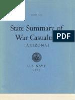 WWII Arizona Navy Casualties