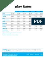 MT 2010MK Tommy Display Rates