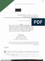 Governamentalidade, a invenção politica das estatisticas