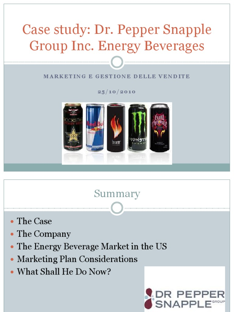 dr pepper snapple group case study analysis
