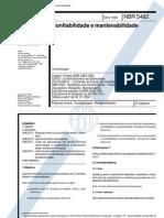 NBR 5462 TB 116 - Confiabilidade e Mantenabilidade
