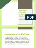 Teaching English Across Culture