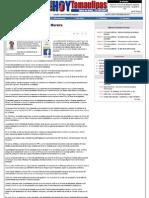 15-05-11 Editorial. Viene El Domingo El Profesor Moreira