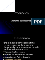 Economía del Mecanizado Producción II