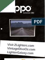 2002 Harley Davidson Zippo Lighter Catalog
