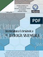 Díptico de Licenciatura en Teología Sistemática - SASRL