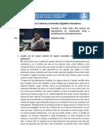 Comunicación. E-Ciencia y contenidos digitales interactivos