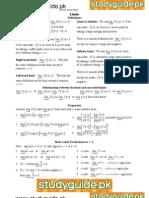 Calculus Cheat Sheet All