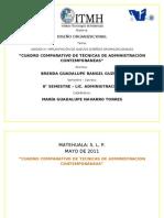 CUADRO COMPARATIVO DE TÉCNICAS DE ADMINISTRACIÓN CONTEMPORÁNEAS (1)