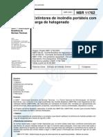 NBR 11762 - 2001 - Extintores de Incêndio Portateis com Carga de Halogenado