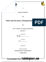 Project Report on Sales and Inventory Management System