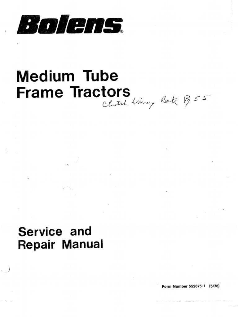 552875 1 tubeframe rh scribd com Bolens Lawn Mower Wiring Diagram Kubota Ignition Switch Wiring Diagram