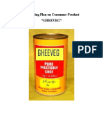 Marketing Plan on Gheeveg[1]