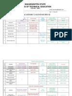 Academic Calender 2011-12