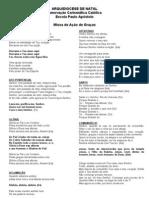 Folha de Canto - Missa Da Juventude