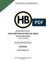 Complete Sayings Jesus