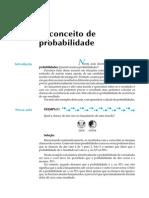 CONCEITO DE PROBALIDADE