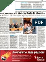 """""""Con Guccini si è cantata la storia"""" - Il Resto del Carlino del 14 maggio 2011"""