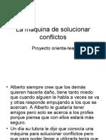 La máquina de solucionar conflictos_6ª sesión taller de HHSS