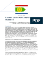 Answer to the Afrikaner-Boer Question