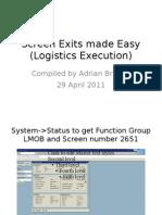 SAP SD LE RF Screen Exits Made Easy