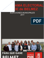 Programa Electoral Definitivo. Elecciones 2011