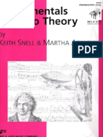 Fundamentals of Piano Theory Prep Level