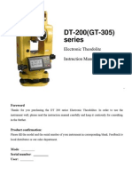 GT-305 Manual Theodolite