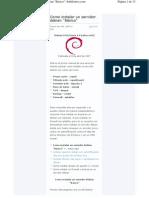 Instalar Servidor Debian Basico