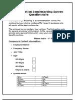 Compensation Bench Marking Survey Questionnaire Final 1