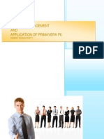 Project Managment & Application of Primavera p6
