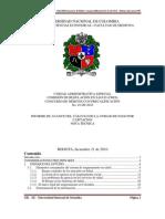 Informe del CID-IIC de la Universidad Nacional sobre UPC para el 2011