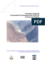Manual for Preparing Environmental Management Plan
