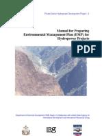 Manual for Preparing Environmental Management Plan