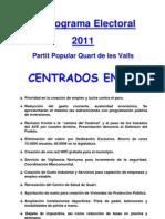 Programa Electoral WEB 2011