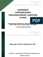Seminário de contribuições previdenciárias