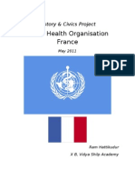Middle School Project - WHO France & Healthcare System