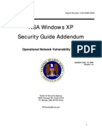 NSA Windows XP Security Guide Addendum